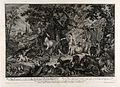 Adam names the animals in the Garden of Eden. Etching by J.E Wellcome V0034427.jpg