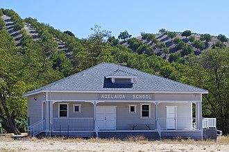 Adelaida, California - The restored Adelaida School in 2013
