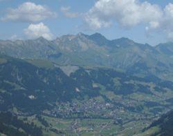 Panorama of Adelboden.