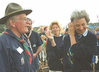 Princess Benedikte of Denmark - Princess Benedikte at the summer camp of The Danish Guide and Scout Association in 1999.
