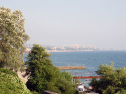 View of Adlersky City District from Khosta