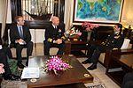 Admiral RK Dhowan and Admiral Scott Swift meeting at South Block, New Delhi.jpg