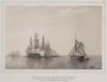Adolph Kittendorff after Frederik Theodor Kloss - Den danske escadre i året 1841 under den meklenborgske kyst - Med tekst.png