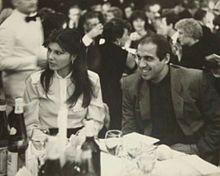 Claudia Mori con Adriano Celentano nel 1970