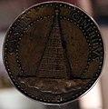 Adriano fiorentino, medaglia di emilia pia da montefeltro, urbino, 1495, 02 piramide.jpg