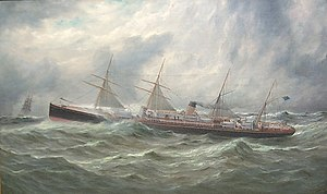 White Star Line - Adriatic of 1871, (3,888 GRT)