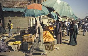 Mercato per strada in Egitto (1987)