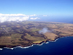 Aerial view of Hawi and the surrounding North Kohala region
