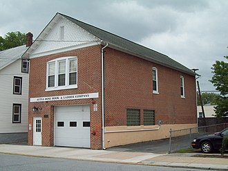 National Register of Historic Places listings in northern New Castle County, Delaware - Image: Aetna Hose, Hook and Ladder Company, Fire Station No. 1 Apr 10