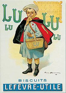 LU advertisement, with a child eating a biscuit