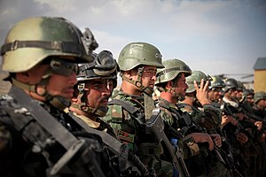 Afghan National Army Commando Corps - Afghan commandos preparing for an air assault mission