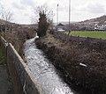 Afon Llynfi flows past a football ground in Caerau - geograph.org.uk - 4368756.jpg
