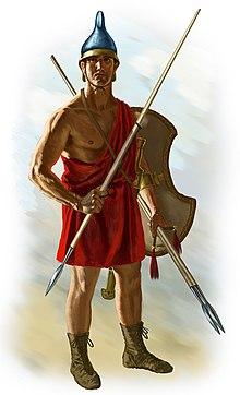 Аргіанський пельтаст озброєний