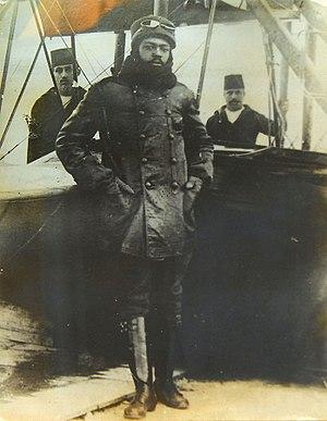 Afro Turks - Ahmet Ali Celikten in flight suit.