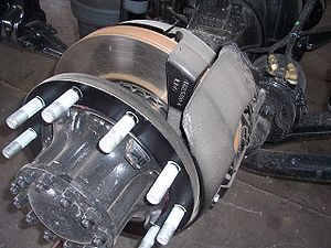 Air brake (road vehicle) - Truck air actuated disc brake.