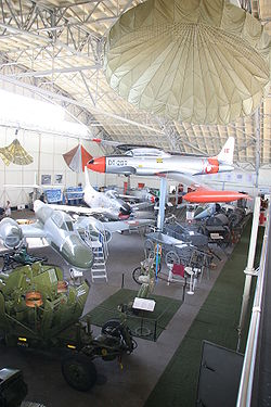 Aircraft in the hangar at Aalborg Defence and Garrison Museum.jpg