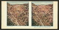 Airplane view of Manitou Canyon and entrance to Cave of the Winds, Colorado Springs, Colo, from Robert N. Dennis collection of stereoscopic views.png