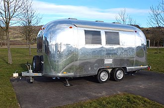 Airstream - A twin-axle Airstream trailer in Germany
