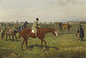 Ajdukiewicz-Baron Rothschild-Horses on the racetrack.jpg