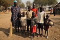 Akuol Majok escaped with her children from Bor (12451935484).jpg