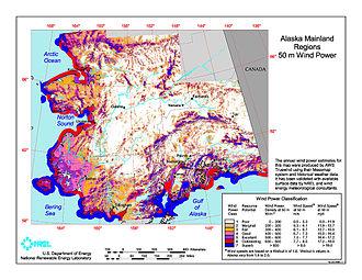 Wind power in Alaska - Alaska wind resources