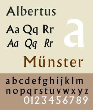 Albertus (typeface) - Image: Albertus MT