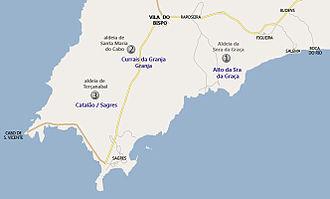Vila do Bispo - A mapa of the extinct settlements along the Cape Saint Vincent coast