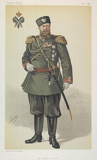 Constantin de Grimm - Image: Alexander III, Vanity Fair, 1884 10 11