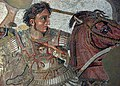 Alexander the Great is portrayed at the Battle of Gaugamela.jpg