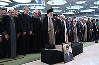 Ali Khamenei Praying for Ayatollah Hashemi Shahroudi01.jpg