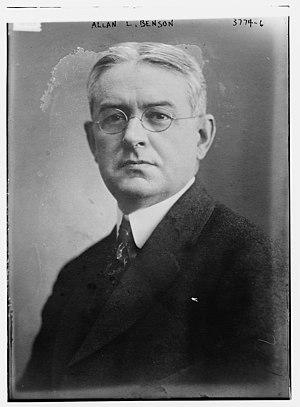 Allan L. Benson - Image: Allan Louis Benson (1871–1940) circa 1915