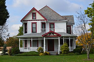 Lordstown, Ohio - The Almon G. McCorkle House, a historic site in the village