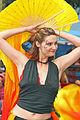 Amanda of Wild Sweet Orange Dance Theatre dancing with yellow silk streamers (4762986908).jpg