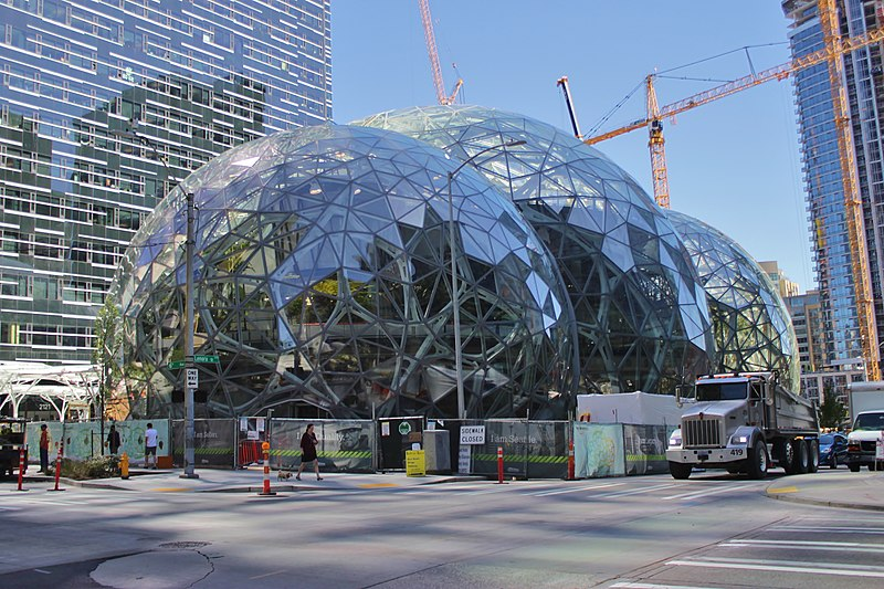 File:Amazon Spheres from 6th Avenue, June 2017.jpg