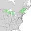 Amelanchier sanguinea range map 1.png