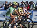 Amgen ToC 2013, Peter Sagan, Tejay Van Garderen, and Carter Jones on the start line..jpg