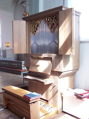 Positive organ - Positive organ in Karlskrona Admiralty Church, Sweden