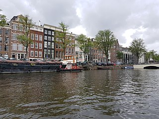 Amstel river in the Netherlands