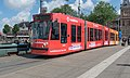 Amsterdam Centraal GVB 2088 (Vodafone reclame) op lijn 17 (34976879851).jpg