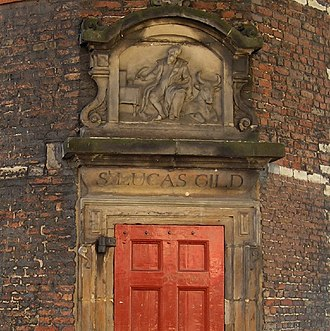 Waag, Amsterdam - Gate of the Guild of Saint Luke (the painters' guild)