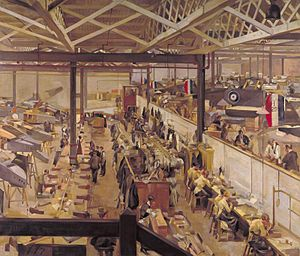 Anna Airy - An Aircraft Assembly Shop, Hendon (Art.IWM ART 1931)