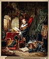 An alchemist reading in a romanticised laboratory setting. W Wellcome V0025609.jpg