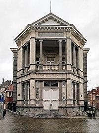 Façade de l'ancien bâtiment de la justice de paix de Laeken