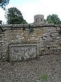 Ancient inscription on the external wall of St Mary, Bromfield - geograph.org.uk - 1443159.jpg