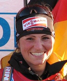 Andrea Henkel German biathlete