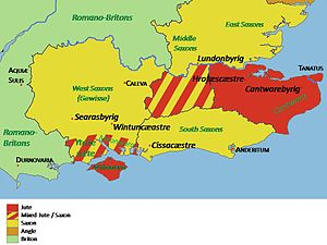 Haestingas - The Anglo-Saxon settlements of south east Britain c. 572 AD