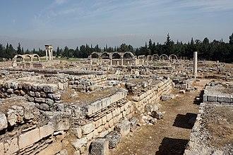 Al-Abbas ibn al-Walid - Ruins of the Umayyad palace of Anjar
