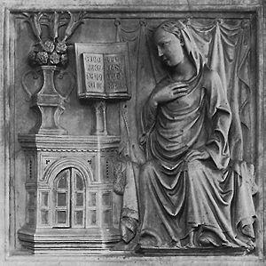 Giovanni di Balduccio - Giovanni di Balduccio, Annunciation, Santa Maria delle Carceri