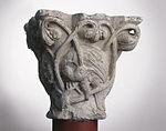 Anonyme toulousain - Chapiteau de colonne simple , Oiseaux dans des lianes - Musée des Augustins - ME 227 (2).jpg