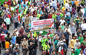 Social impact of YouTube - The privately produced YouTube video Innocence of Muslims (2012) spurred protests and related anti-American violence internationally, such as this demonstration in Kuala Lumpur, Malaysia.